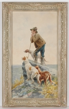"Virgilio COLOMBO - Dibujo Acuarela - ""Italian Shepherd"", ca.1900, Watercolor"