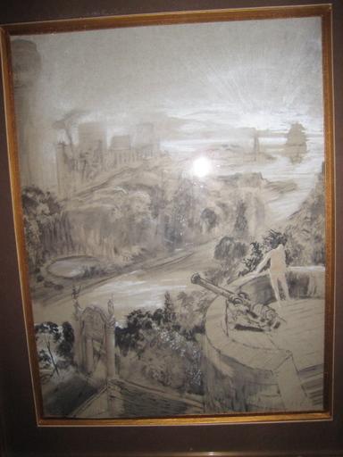 Edouard Léon Louis LEGRAND - Drawing-Watercolor - EMBOUCHURE D UNE  RIVIERE SUR LA MER