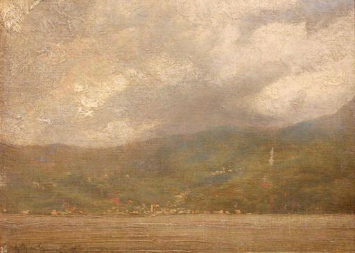 Vittore GRUBICY DE DRAGON - Pintura - Da Fiume Latte in vista di Menaggio