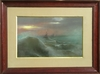 Gaston NOURY - Drawing-Watercolor - LA VAGUE ET LE VOILIER