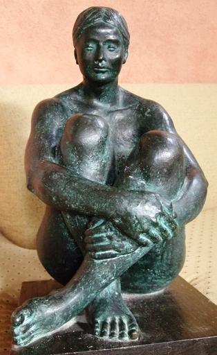 Felipe CASTAÑEDA - Sculpture-Volume - Seated Woman