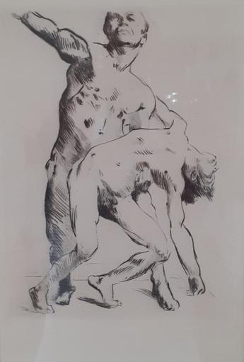 Lovis CORINTH - Stampa-Multiplo - Odysseus und die Freier