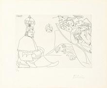 巴勃罗•毕加索 - 版画 - Raphael et la Fornarina XIX (from Series 347)
