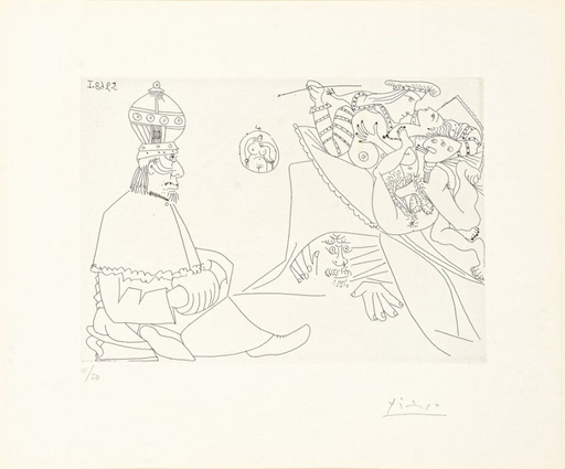 Pablo PICASSO - Stampa Multiplo - Raphael et la Fornarina XIX (from Series 347)