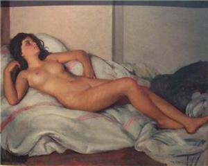 """Maurice Ambroise EHLINGER, """"Female Nude"""""""
