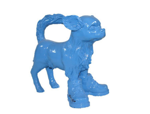 William SWEETLOVE - Sculpture-Volume - small cloned Blue Chihuahua