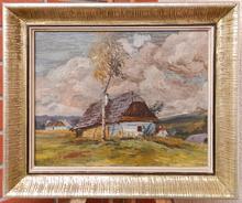 Ota BUBENICEK - Pintura - Chalets in the country