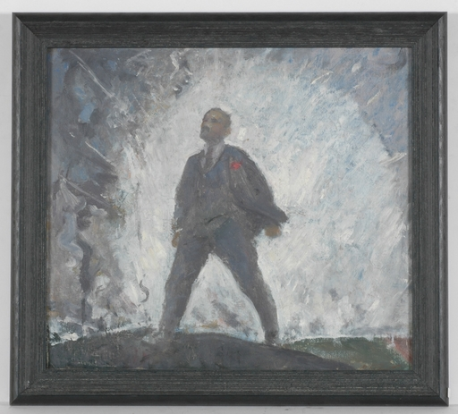"Michail BOZHIJ - Pintura - ""Lenin"" by Michail Bozhij, ca 1950"