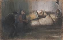 Arthur MARKOWICZ - Dibujo Acuarela - Pogrom, 1914