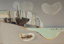 Georges DAYEZ - Painting - Etretat