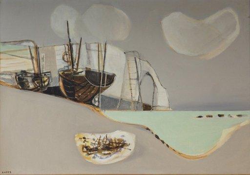 Georges DAYEZ - Peinture - Etretat