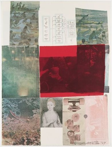 Robert RAUSCHENBERG - Estampe-Multiple - From the Seat of Authority