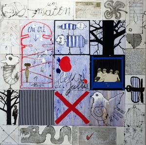 Christian SILVAIN - Painting - Lettre à Julia