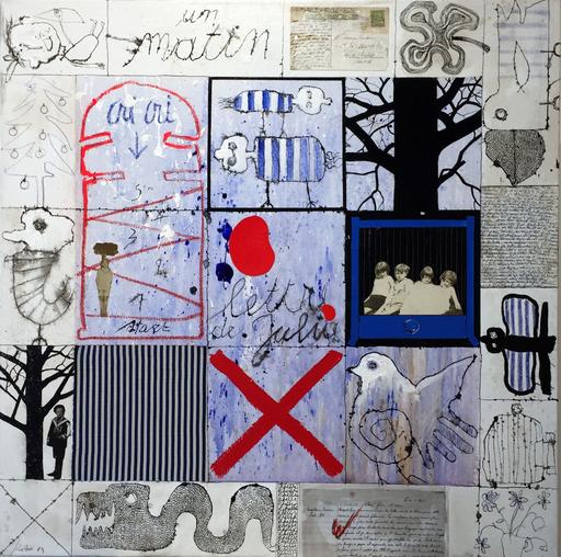 Christian SILVAIN - Peinture - Lettre à Julia