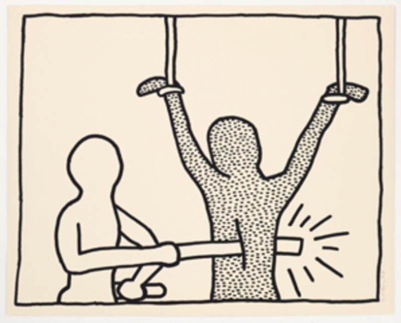 Keith HARING - Estampe-Multiple - Blueprint Drawing 2