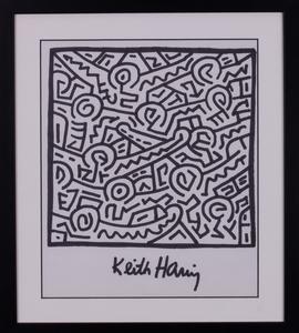 Keith HARING - Dessin-Aquarelle - SANS