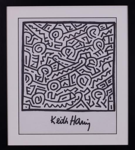 Keith HARING - Dibujo Acuarela - SANS