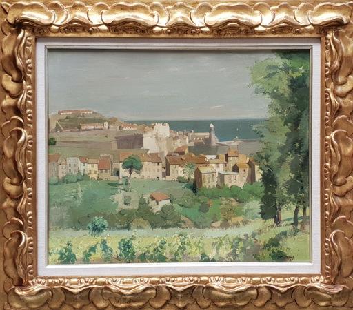Rafael DURANCAMPS - Painting - paisaje de Colliure - Francia