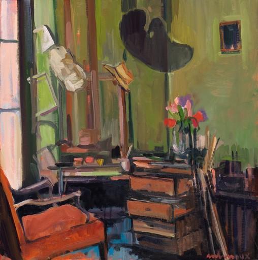 Carole MELMOUX - Painting - Scène d'Atelier 3 Souvenir de l'atelier Derain