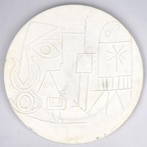 Pablo PICASSO - Ceramic - Jacqueline au chevalet