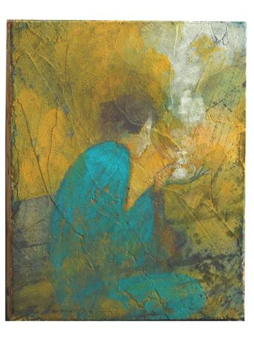 Miyuki TAKANASHI - Gemälde - Sitting Girl