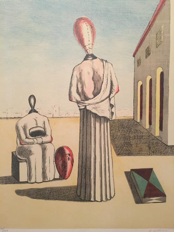 Giorgio DE CHIRICO - Stampa-Multiplo - le muse inquietanti 1976