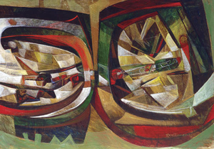 Raul ENMANUEL - Pintura - La Locomotora de mi Papa