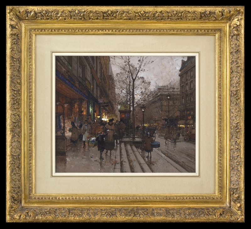 Eugène GALIEN-LALOUE - 水彩作品 - Les Grands Boulevards, Paris