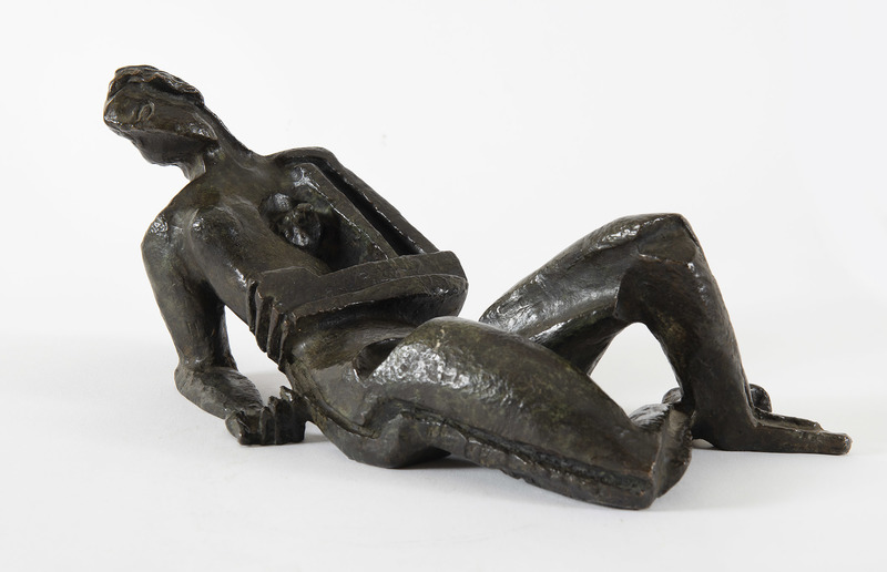 Ossip ZADKINE - Sculpture-Volume - Femme allongée