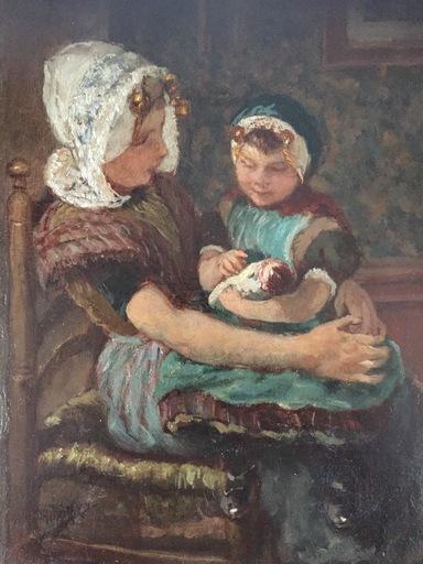 Hendrikus Mattheus HORRIX - Painting - Two sisters from Zeeland