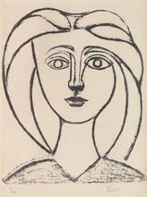 """Pablo PICASSO (1881-1973) - """"Jeune Fille aux Grands Cheveux"""""""