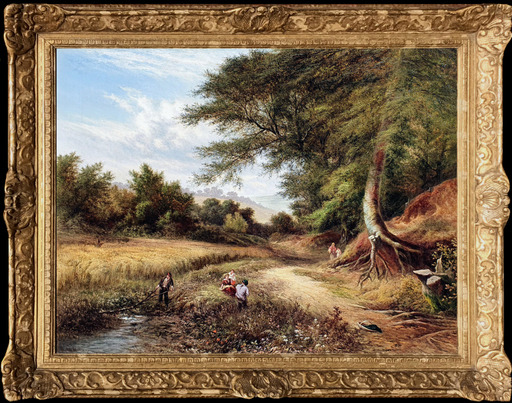 George Walter WILLIAMS - Pittura - Wayside Rest