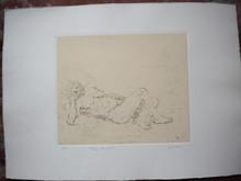 Giorgio DE CHIRICO - Grabado - Fauno dormiente