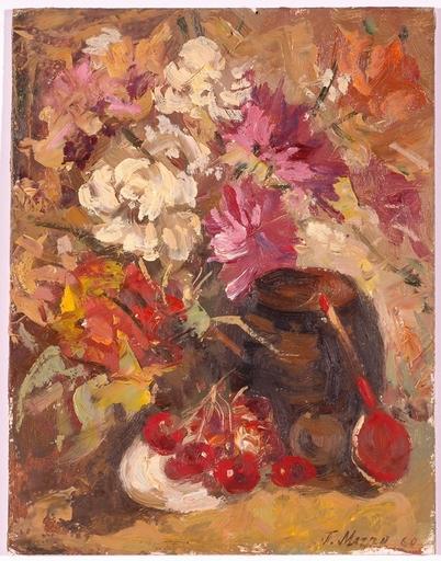 """Piotr MAGRO - Pittura - """"Still Life"""", Oil Painting, 1960"""