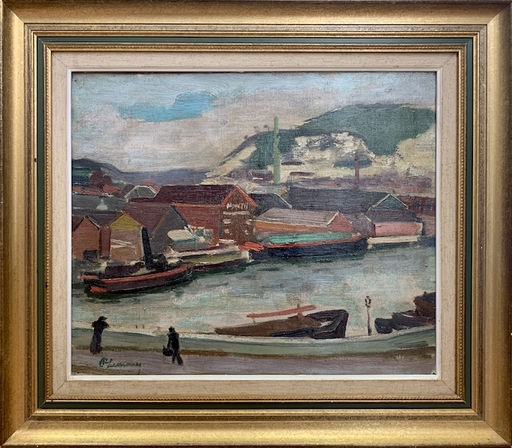 Roger Marcel LIMOUSE - Painting - Le port