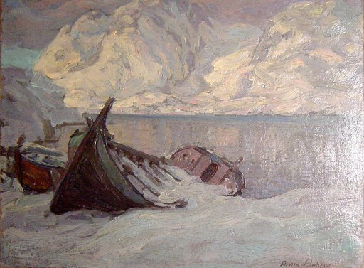 Anna BOBERG - Gemälde - Fjord suédois
