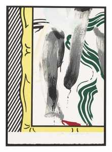 Roy LICHTENSTEIN - Stampa Multiplo - Against apartheid