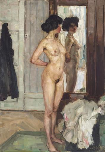 Wilhelm GALLHOF - Peinture - Vor dem Spiegel