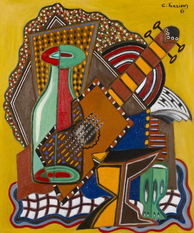 Georges TERZIAN - Peinture - La bouteille