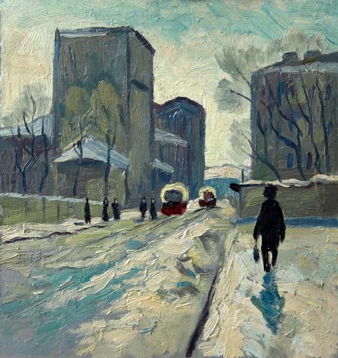 Valeriy NESTEROV - Painting - Bolshaya Andronievskaya street. Moscow