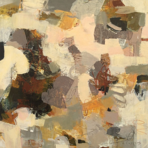 Linda COPPENS - Painting - Poetry of Life 5 (Abstract painting)