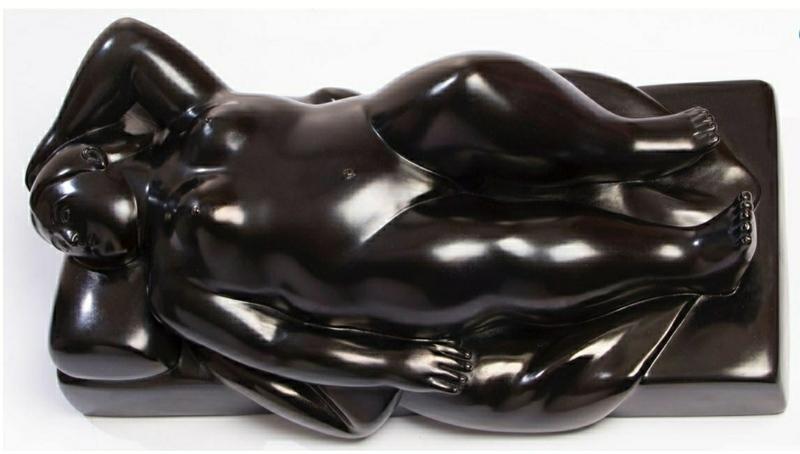Fernando BOTERO - Sculpture-Volume - mujer recostada