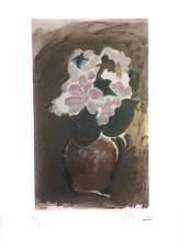 Georges BRAQUE - Estampe-Multiple - Les Fleurs Violets