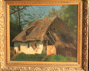 George Paul CHALMERS - Pintura - Backside of a farmhouse