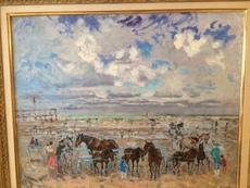 André HAMBOURG - Painting - Port d'Honfleur