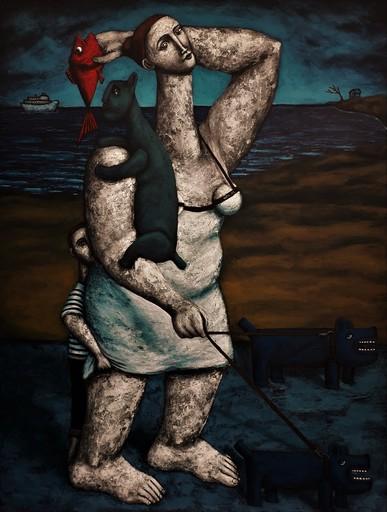Nicolas MONJO - Painting - La promenade