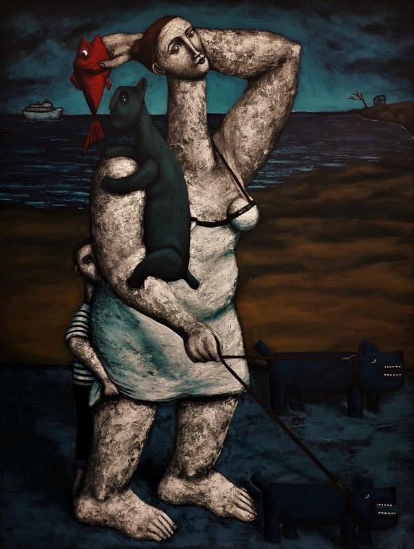 Nicolas MONJO - Pintura - La promenade