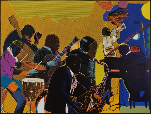 Romare Howard BEARDEN - Estampe-Multiple - Out Chorus