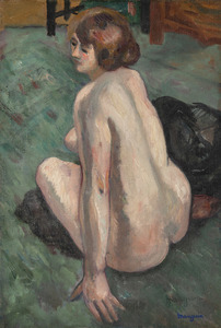 Henri MANGUIN - Gemälde - Grenouillette, Nu de dos