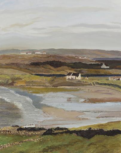 Hugues Claude PISSARRO - Gemälde - La Maison de Sean Duffy à Maghery (Marée Basse en Hiver)
